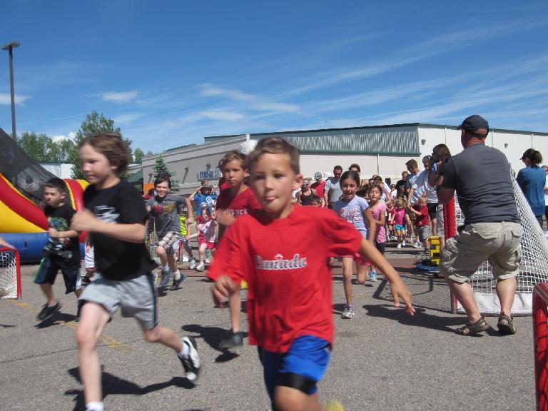 The free kids run begins.