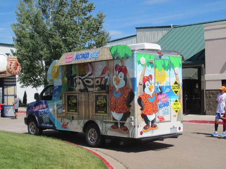 The Kona Ice truck.