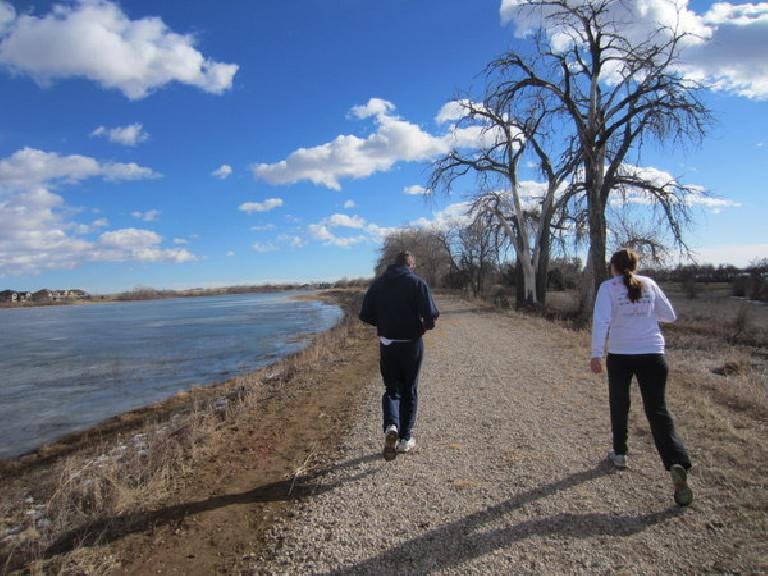 Going for a run with Tim and Kelly by Richard Lake. (December 29, 2011)