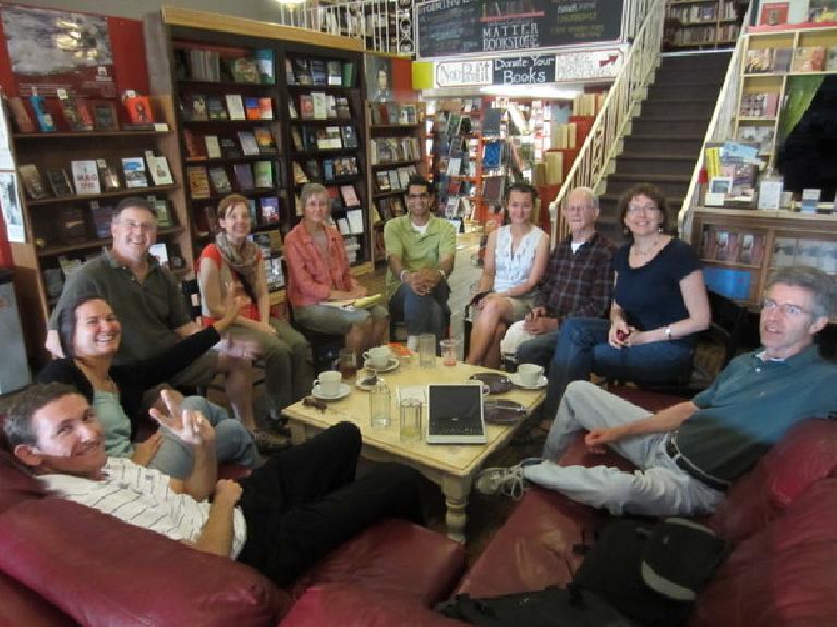 Tim, Kari, Scott, Pili, Lynn, Mehdi, Katia, Bernardo, Karla, and Rick at Fort Collins Spanish. (May 21, 2012)