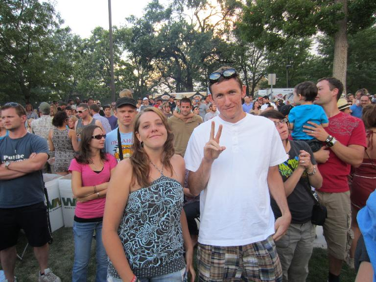 Kelly and Tim at the Mat Kearney concert at the Taste of Fort Collins. (June 10, 2012)