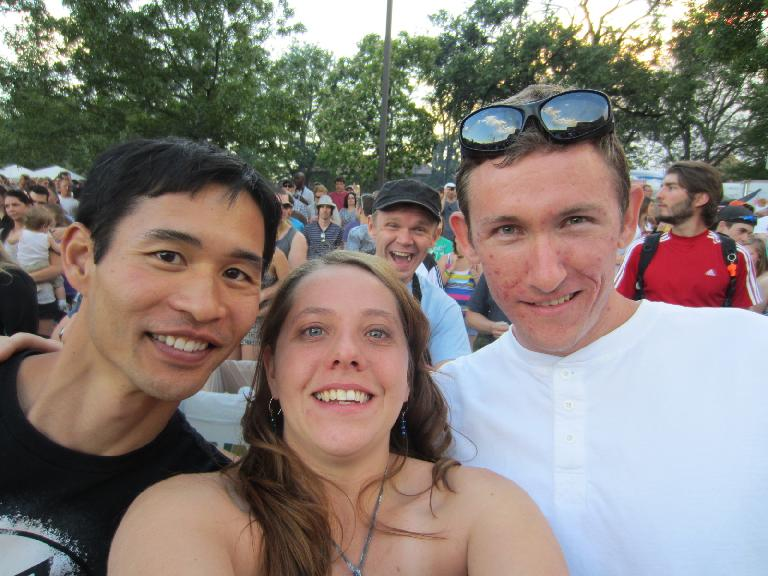 Felix, Kelly and Tim at the Mat Kearney concert at the Taste of Fort Collins. (June 10, 2012)