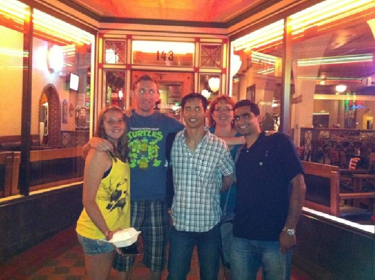 Kelly, Tim, Felix, Karla and Mehdi at the Rio Grande after Fort Collins Spanish, as a mini-going away party for Tim. (June 18, 2012)
