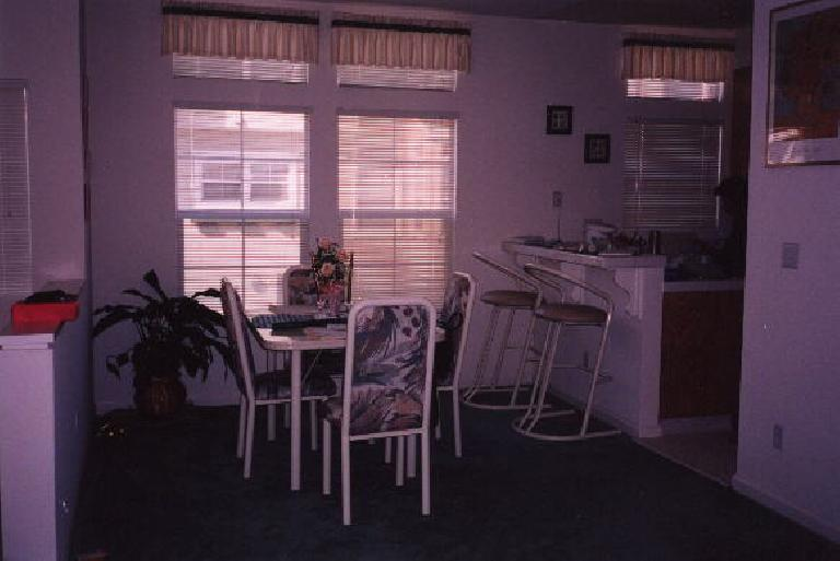The dining area.  The seller hadn't moved out yet when I snapped these pics, so this is her furniture.