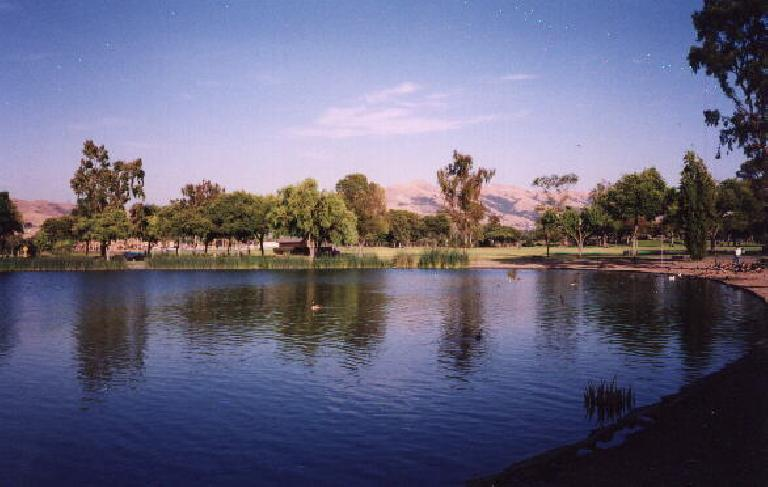 Lake Elizabeth/Central Park again... you can even see Mission Peak from here, about 3 miles away.  BART, the library, and several gyms are also nearby.