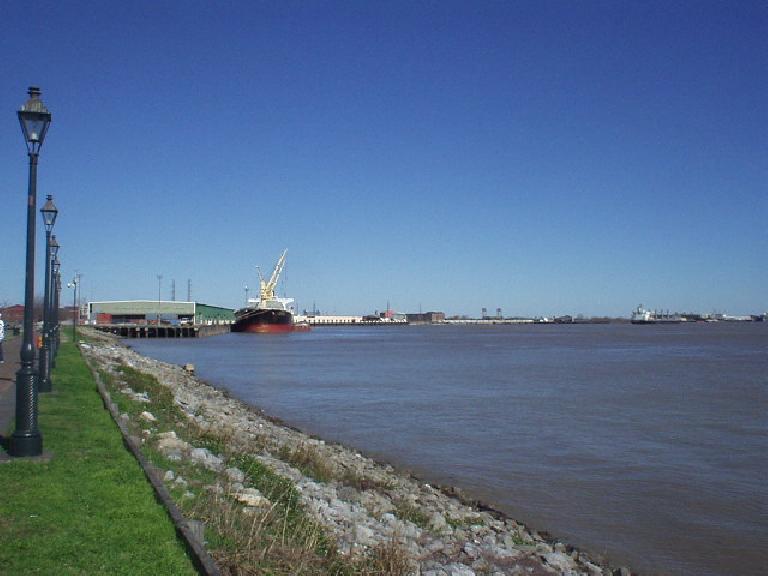 Loading ports along the Mississippi River.