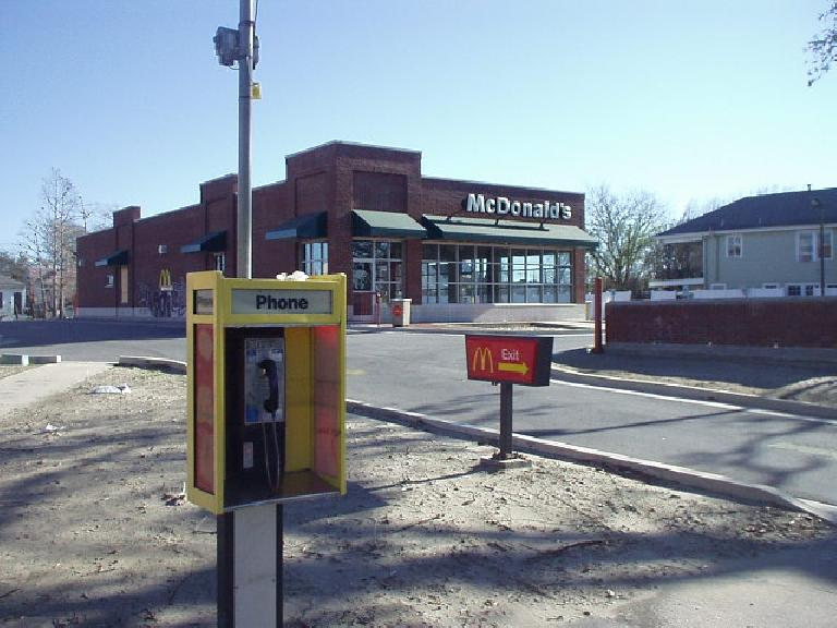 This included most McDonald's and Burger Kings.  Also, none of the public pay phones were working yet.