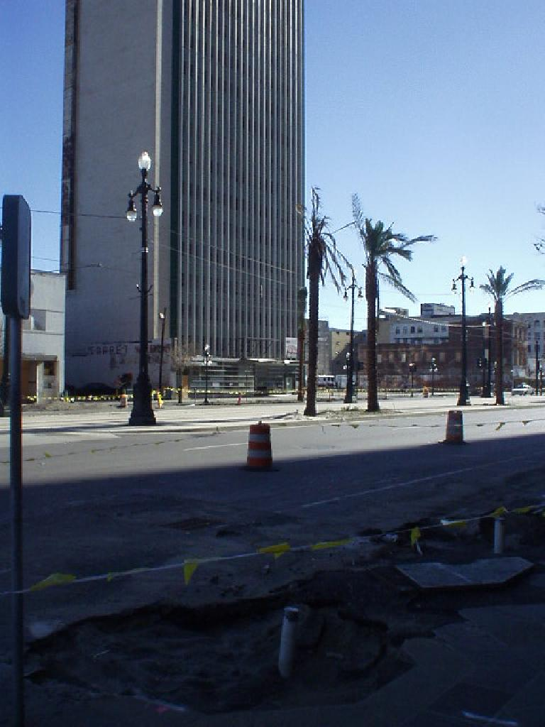 The areas closer to the French Quarter were in better shape, but even there, roads were under heavy construction.
