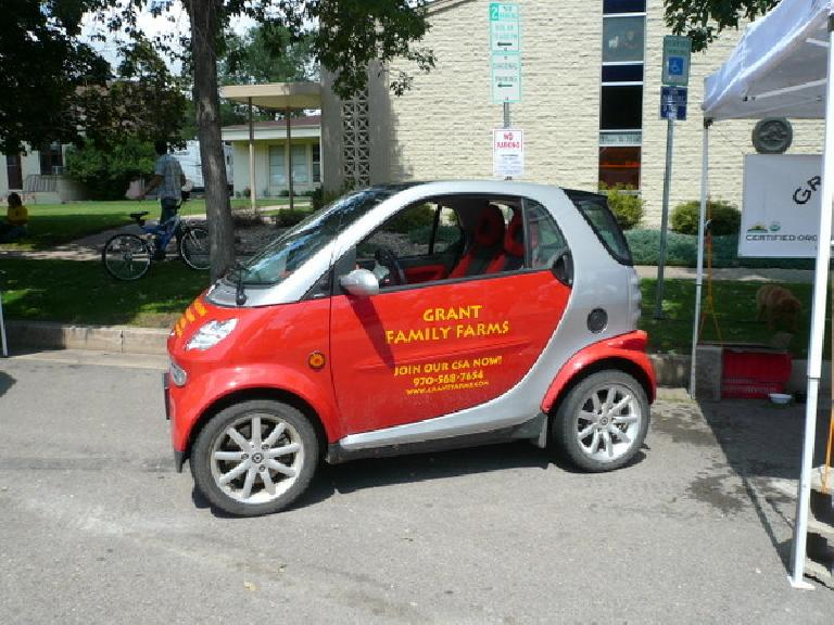 At New West Fest was this cute Smart ForTwo from the Grant Family Farms CSA (Community Supported Agriculture).