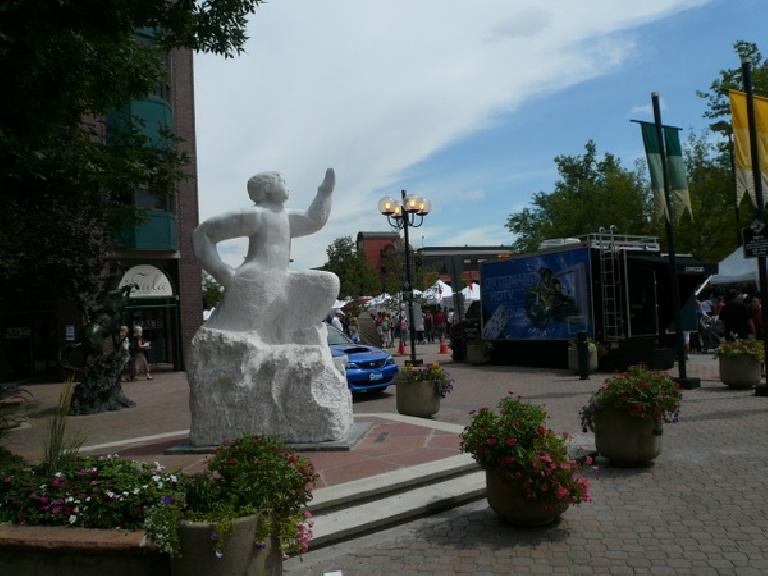 """The sculpture that was finished in Old Town last year, dubbed """"Transcend"""" (inspired by Odysseus)."""