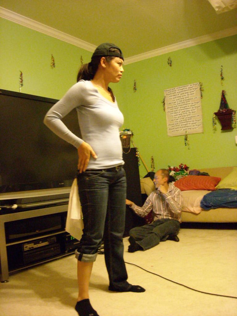 Contestant in the break dance contest.