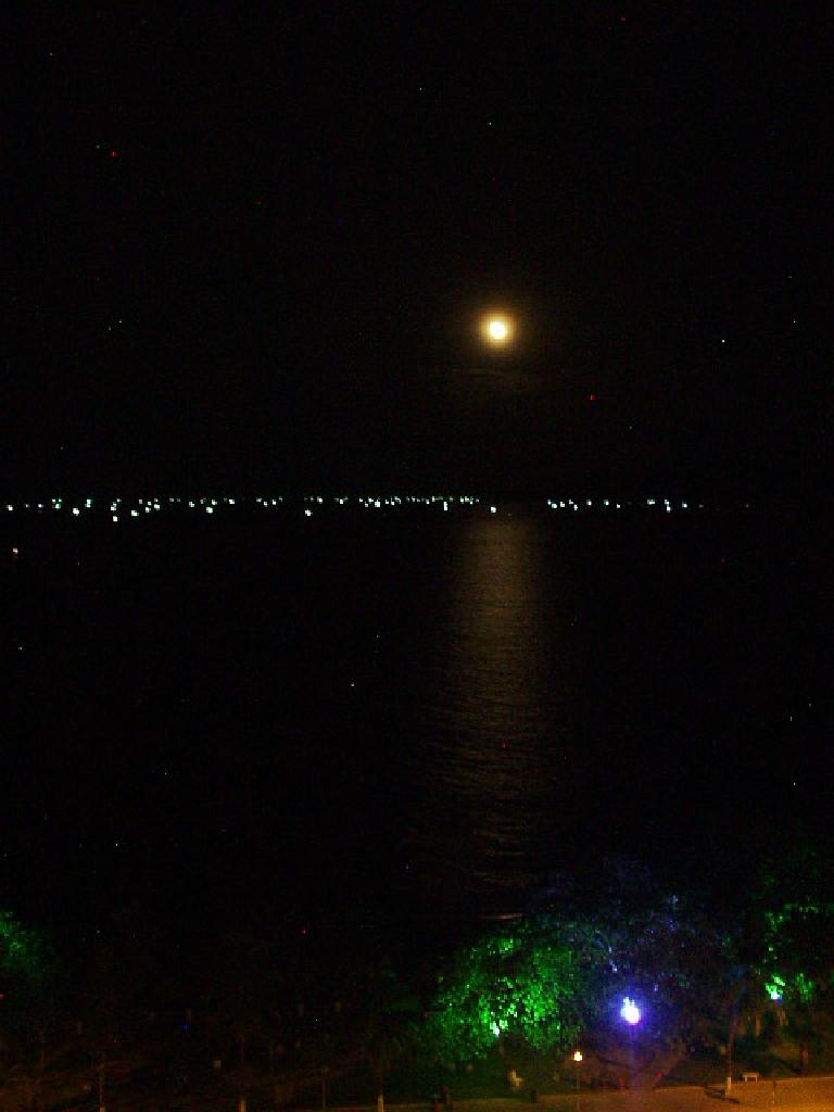 Moon lighting the water. (July 14, 2006)