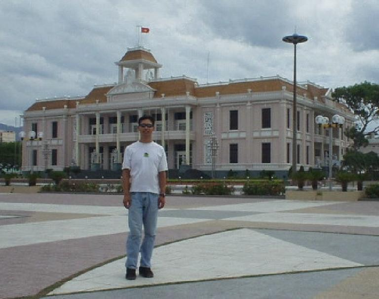 Felix Wong in front of the theatre.
