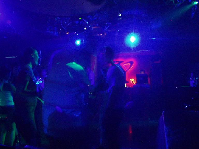 Inside the disco club. (July 14, 2006)