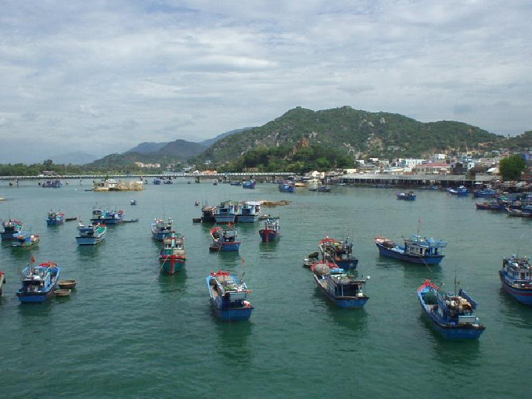 Boats in the harbor of Nha Trang.