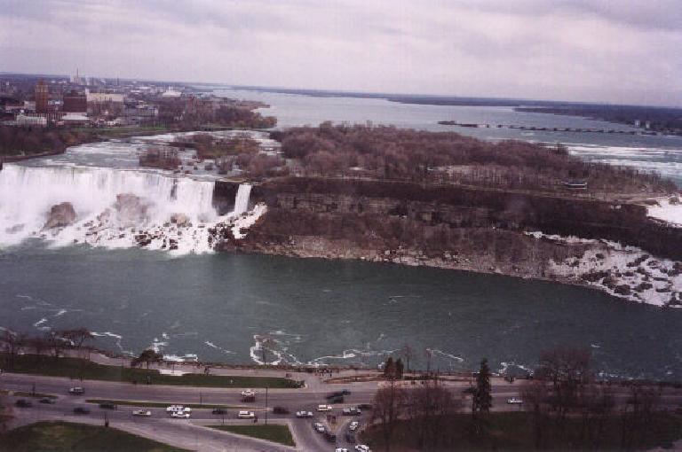 The American Falls viewed from the Skylon Tower.
