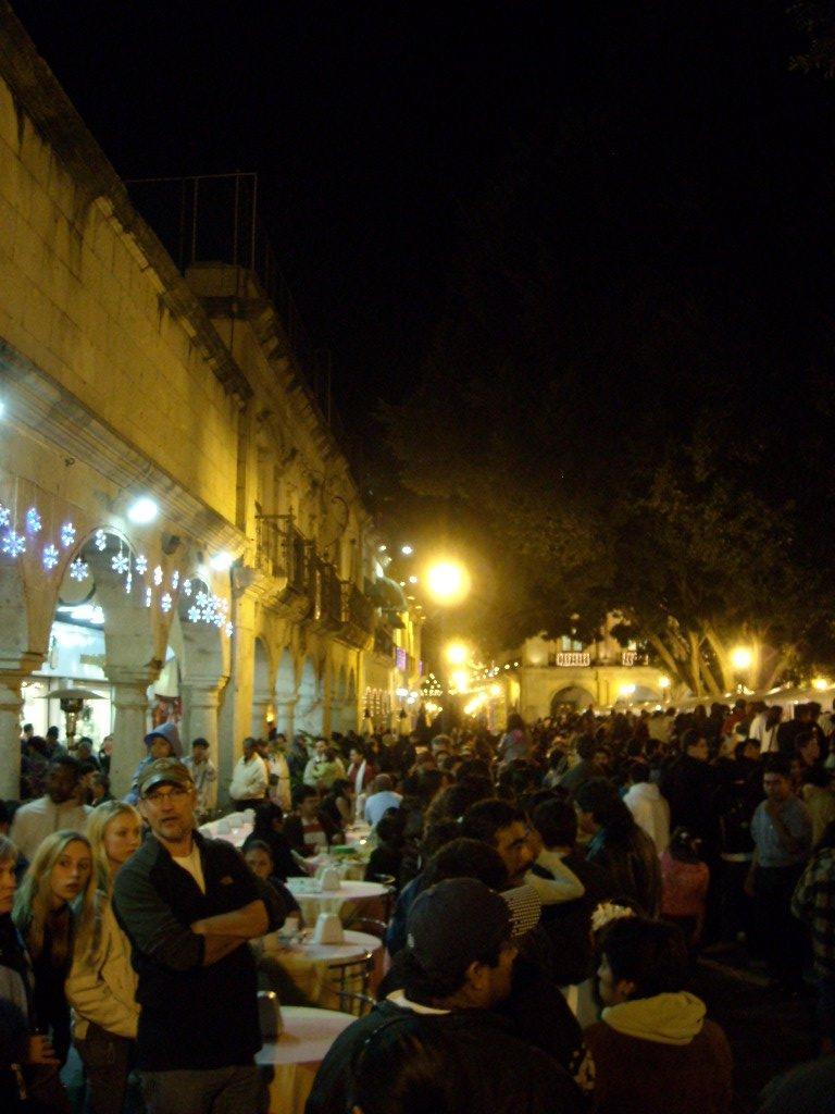When we arrived at La Noche de los Rabanos before 8:00 p.m., the line was about a mile long.