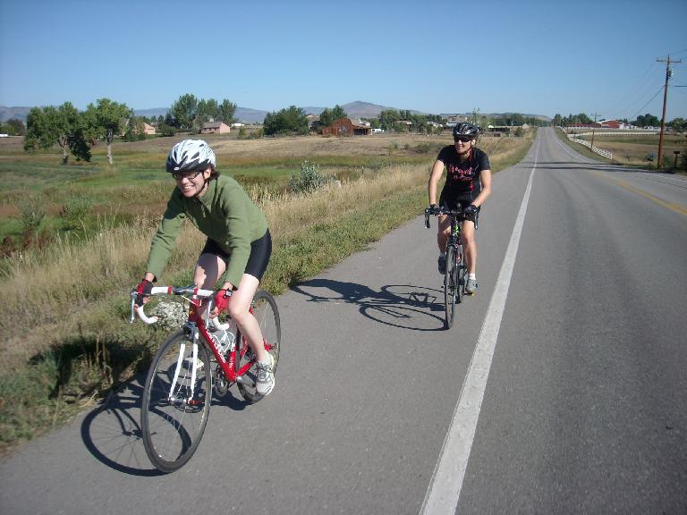 Sarah (on my red Cannondale) and Celeste.