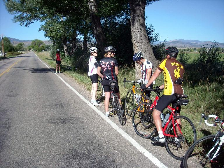 Chris, Mindy, Celeste, Scott, and Jeff at a nature stop.