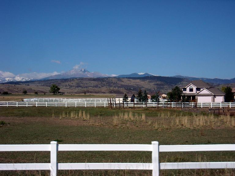 Long's Peak in the distance.