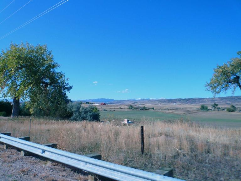 [Mile 22, 9:46 a.m.] The ride may have been very close to the Rocky Mountains but was very flat.