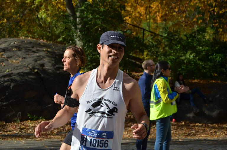 [Mile 24.2] Felix Wong in Central Park in the 2016 New York City Marathon.