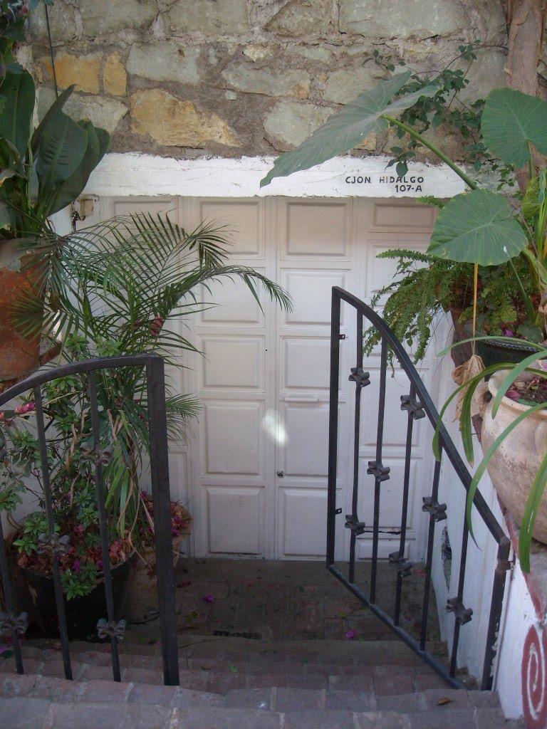 Doorway of someone's residence.