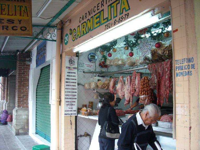 There are also quite a few carnicerias (butcher shops).
