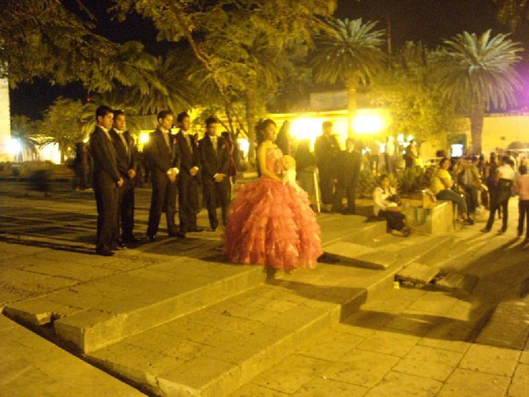 At La Iglesia de Santo Domingo, there was La Quincea̱era for this young lady: a celebration of budding womanhood.