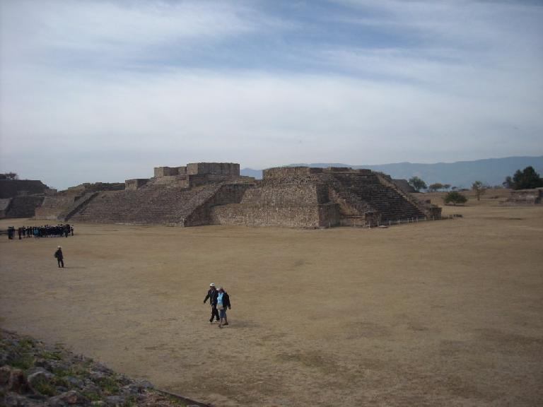 One of the many edificios at Monte Alban.