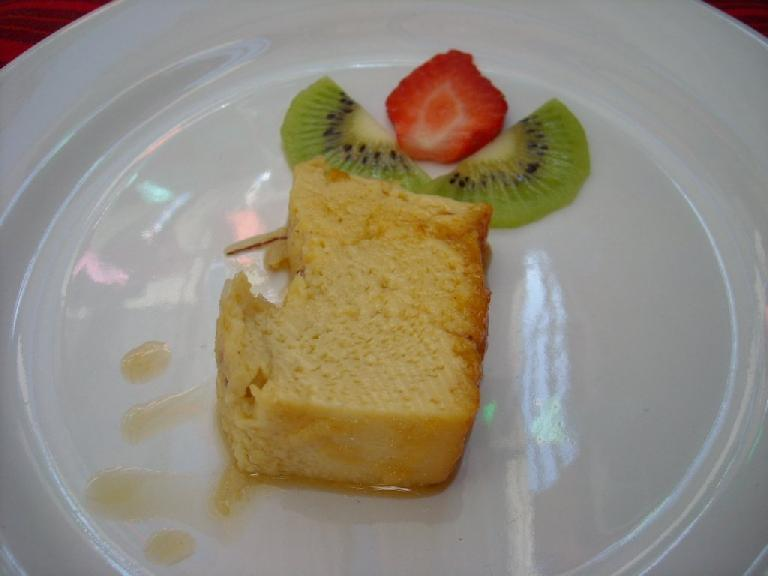 For dessert we ate the flan we made at the beginning of the class.