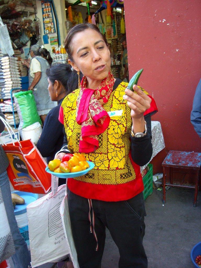 Pilar at La Casa de los Sabores cooking school.
