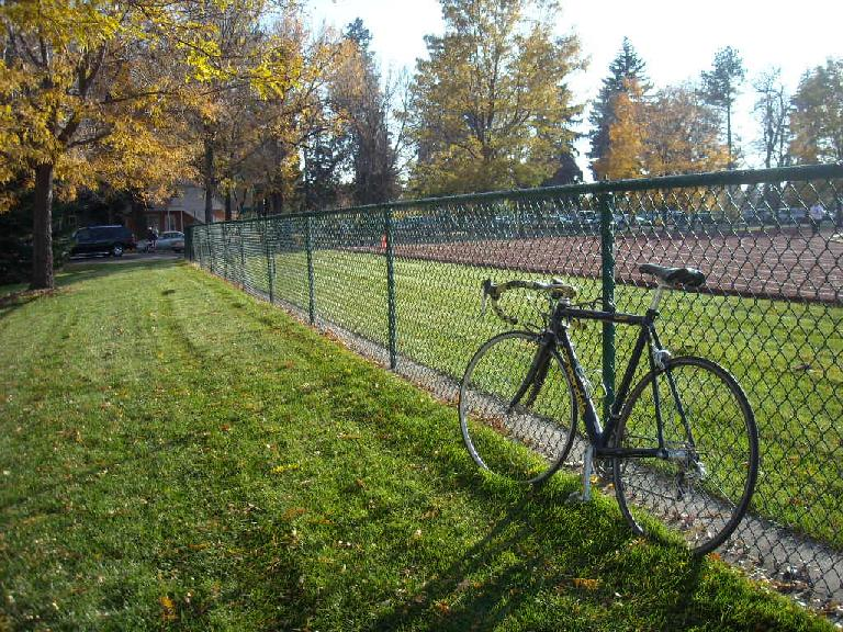 Back to my bike by the Christiansen track.  Exciting afternoon.