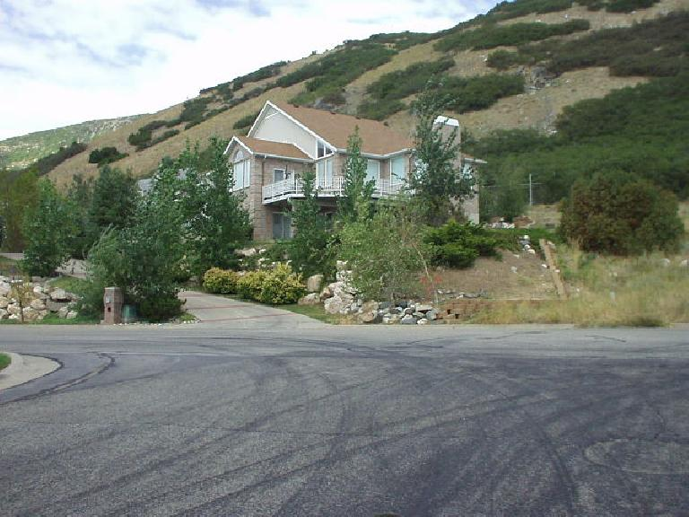 A hillside home.