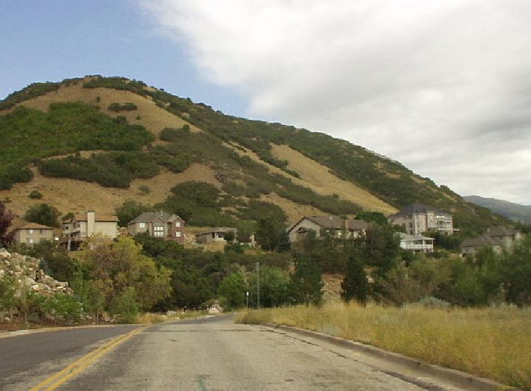 More hillside homes in Ogden just 1-2 miles southeast of WSU.