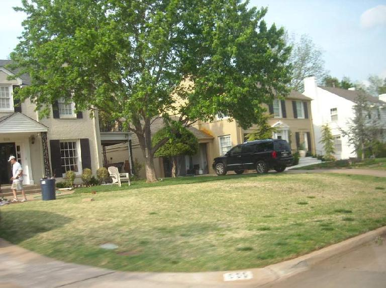 Oklahoma City had many very nice neighborhoods.