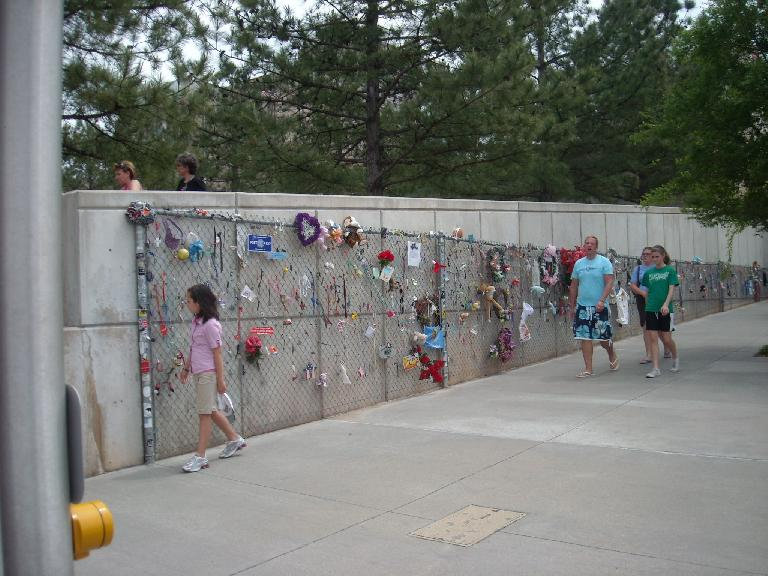 After the April 19, 1995 OKC bombing, momentos placed through chainlinked fences were a familiar sight and remains so today.
