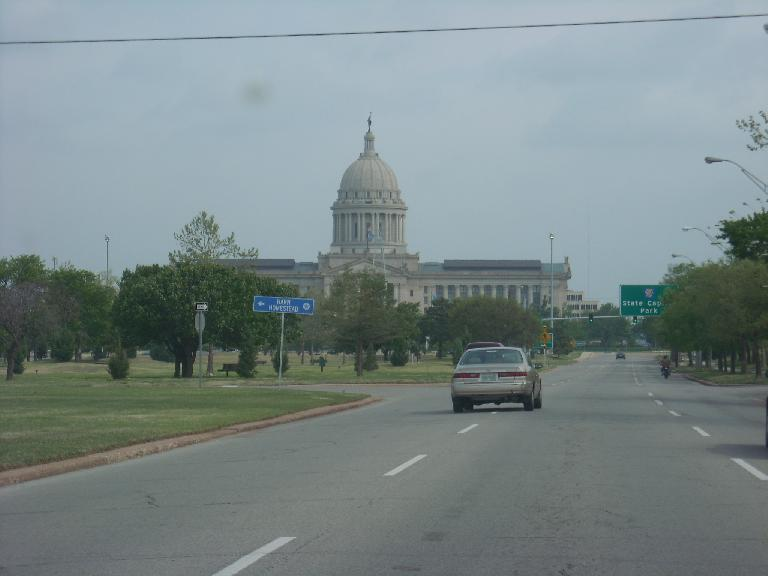 Driving down Lincoln Ave. and passing by the State Capital.