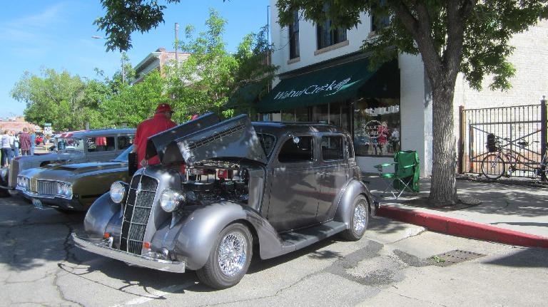 Jim Slattenow's grey 1935 Plymouth 4-door