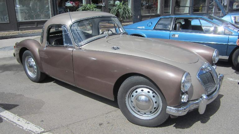 brown MGA coupe