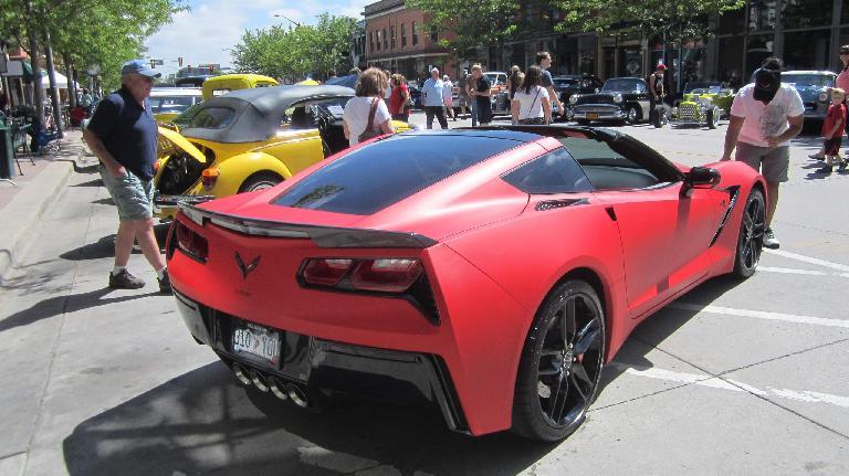 2015 matte red Chevrolet Corvette Stingray coupe