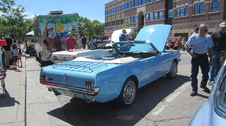 baby blue 1965 Ford Mustang Convertible