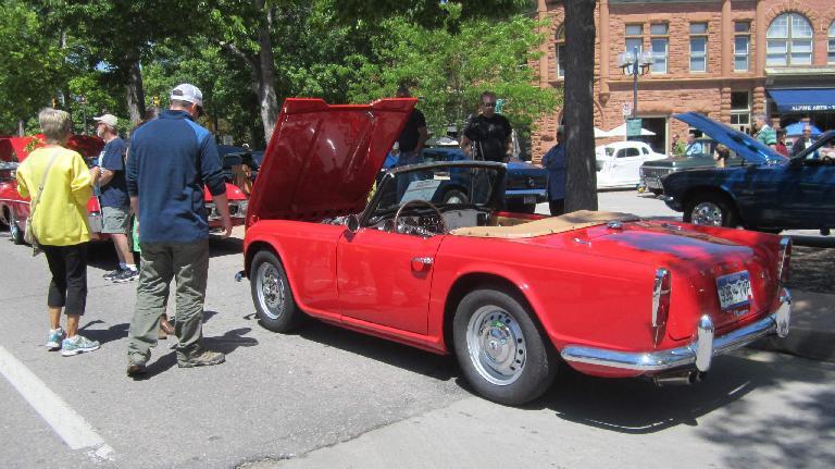 red Triumph TR4