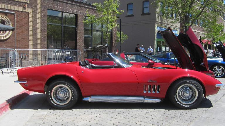 red 1960s Chevrolet Corvette Stingray convertible