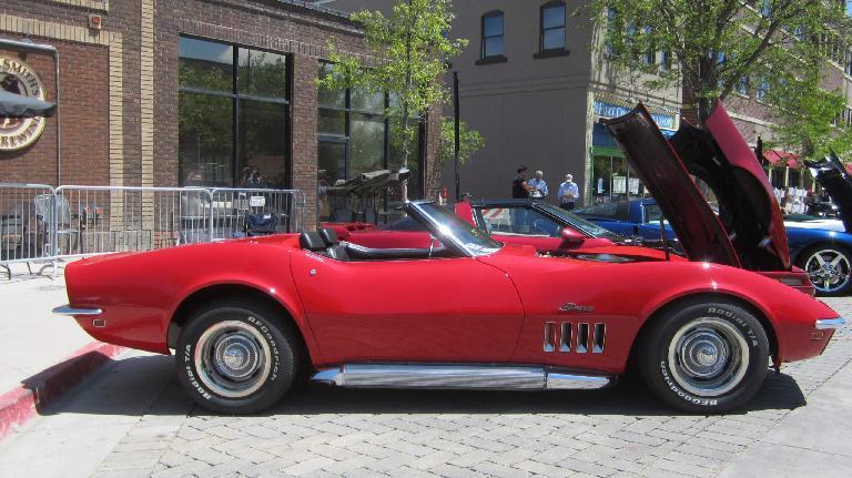 red 1960s Chevrolet Corvette Stingray convertible