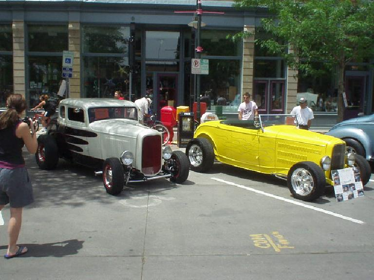 A couple of hot rods.