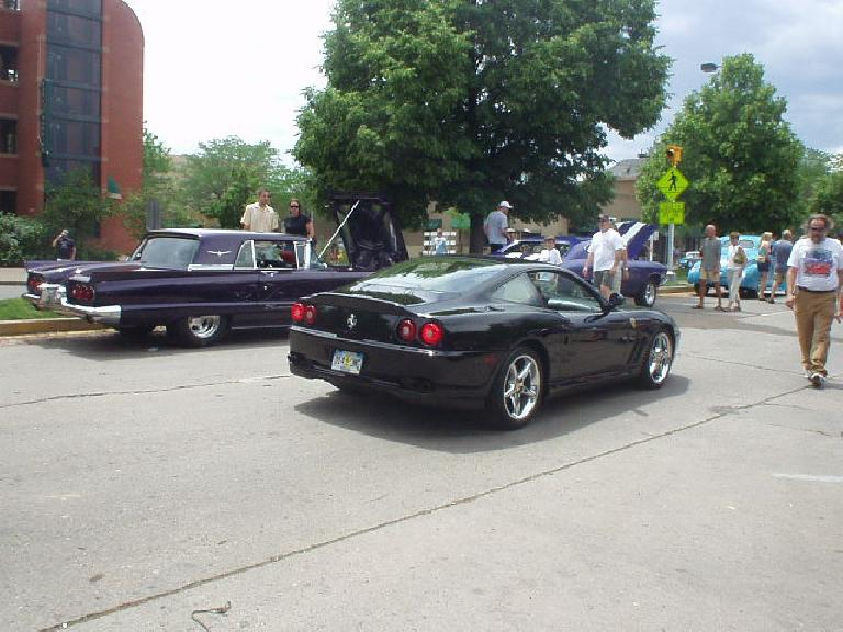 I was checking out an old 'Stang when this Ferrari drove on by.