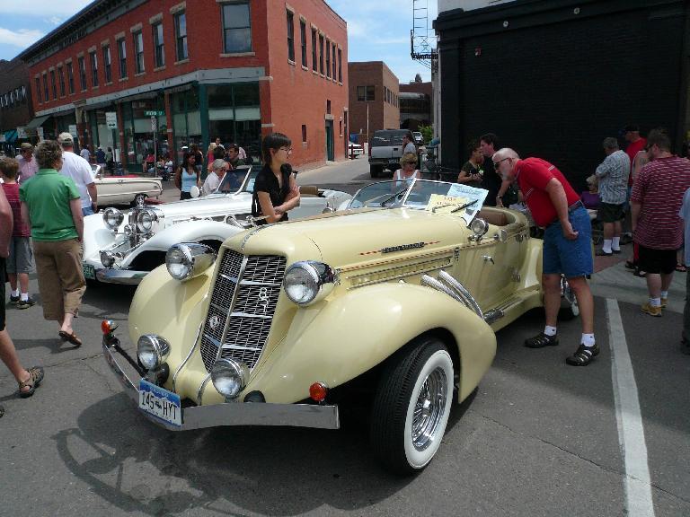 Vintage Auburn convertible.