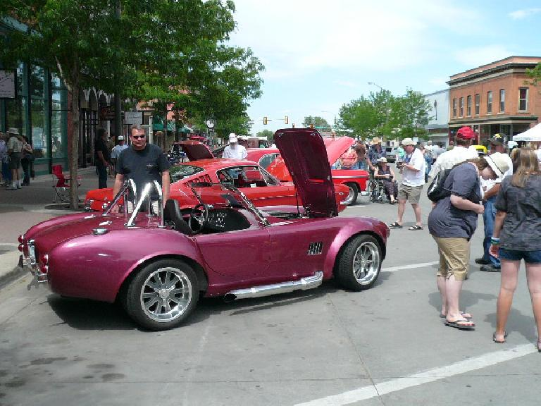 My favorite car of the show, a genuine AC/Shelby Cobra in merlot.