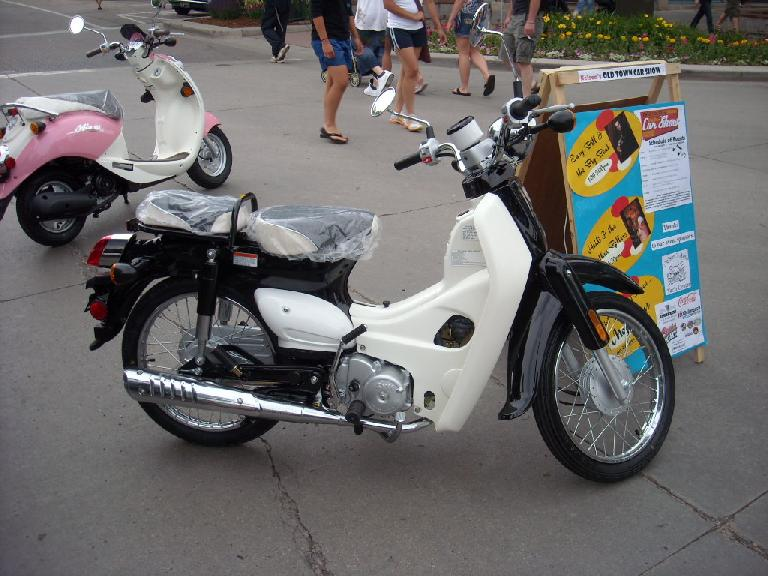 A new scooter that was basically a knockoff of the Honda Super Cub.